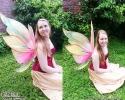 pink golden fairy photoshoot