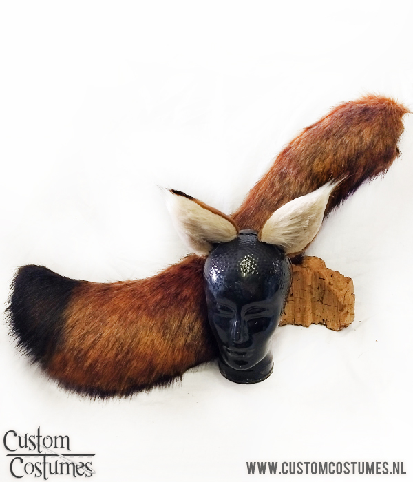 New Movie ZOOTOPIA Nick Wilde Ear Tail Brown Black Fox Tails Cosplay Party Props